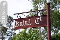 Photo: street sign, Kavel Court, Tanunda - Copyright D Nutting