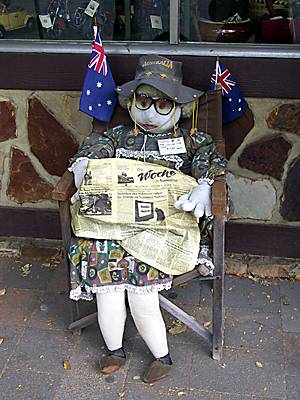 (Foto © D Nutting) Puppe in Hahndorf