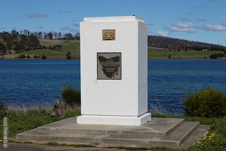 Foto: Das Tasman-Denkmal in Dunalley (copyright: D Nutting)